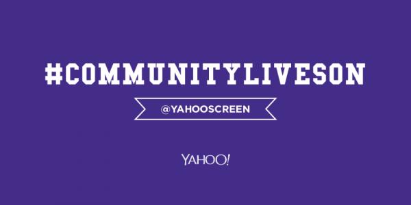 Banner de Community, que foi resgatada pelo site Yahoo!