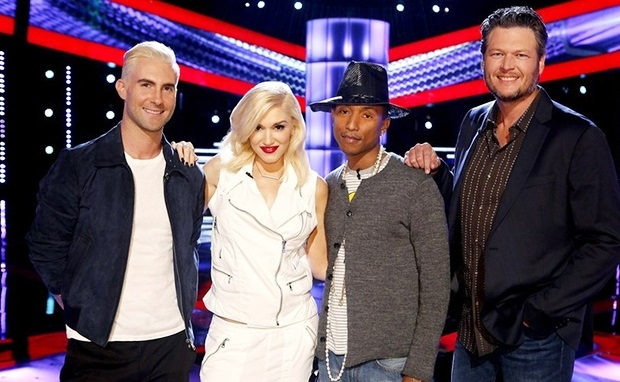 voice-judges-adam-levine-gwen-stefani-pharrell-blake-shelton-2014-billbaord-650