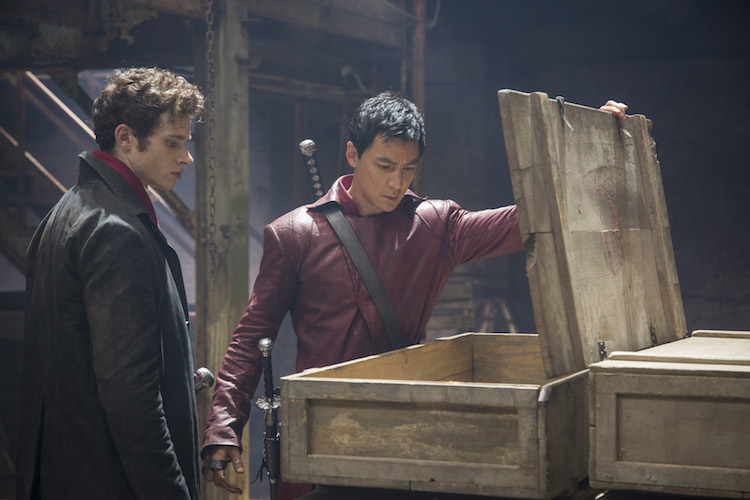 Oliver Stark as Ryder and Daniel Wu as Sunny - Into the Badlands _ Season 1, Epsiode 1 - Photo Credit: Patti Perret/AMC